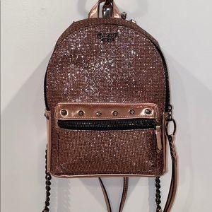 NWOT Rose Gold Victoria's Secret mini backpack